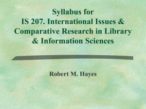 IS 207 Syllabus - UCLA Department of Information Studies