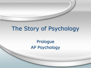 AP Psych Prologue PowerPoint