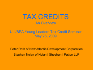 Tax Credits An Overview - Boston Preservation Alliance