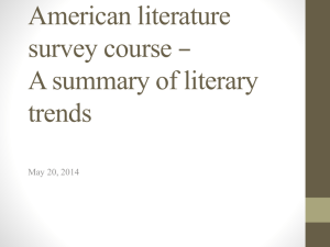 American literature survey course – A summary of the literary trends
