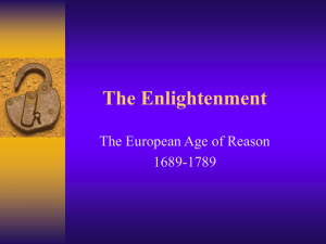 The Enlightenment - Mr. Darby's History