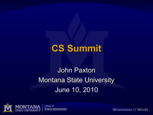 Montana State Departmental Overview