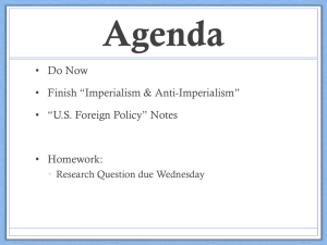 Imperialism Notes - Ms. Costas' History Class
