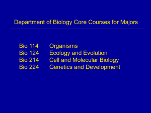 Bio 124 Ecology and Evolution