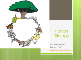open house honors biology 2014