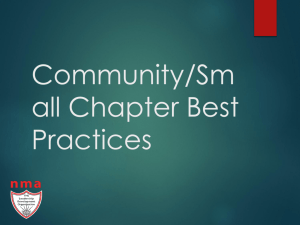 Best Practices Small and Community Chapters