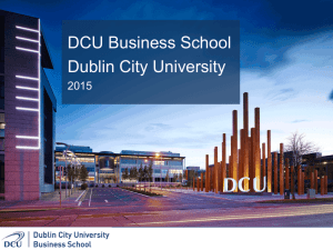 Conference presentation - Dublin City University
