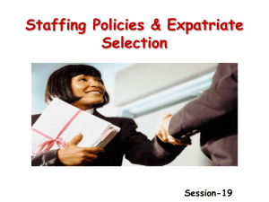 Approaches to Global Staffing