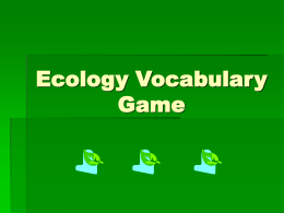 Ecology Vocabulary Game
