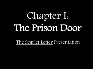 Chapter I: The Prison Door