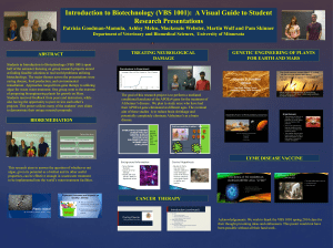 Introduction to Biotechnology (VBS 1001): A Visual Guide to Student