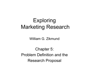 Chapter 5 - Exploring Marketing Research