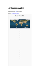 Earthquakes in 2011