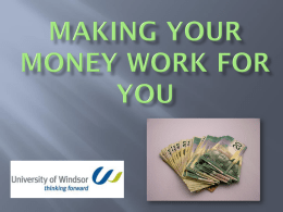 Making Your Money Work for You PowerPoint
