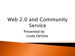 Web 2.0 and Community Service
