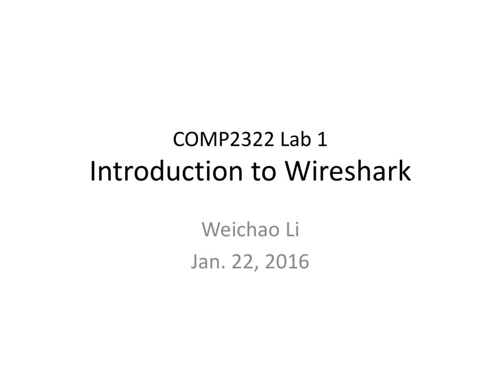 1  Wireshark