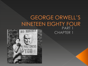 GEORGE ORWELLS 1984 part 1 chapter 1