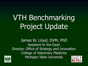 VTH Benchmarking Project Update