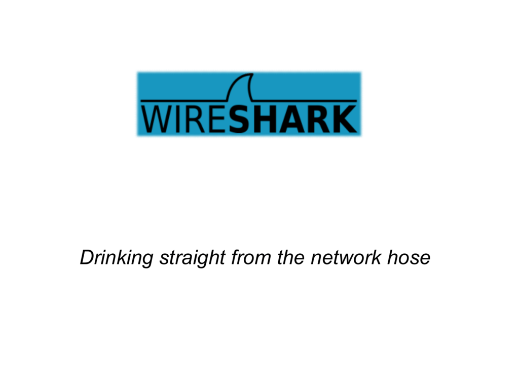 Drinking straight from the network hose