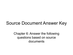 Source Document Answer Key