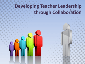 Building Teacher Leadership - West Virginia Department of Education