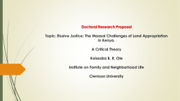 Doctoral Research Proposal Topic: Elusive Justice