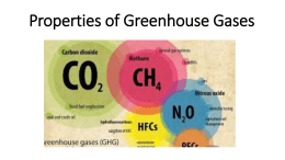 Properties of Greenhouse Gases