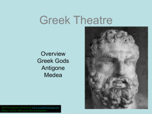 Greek Theatre Greek Gods Antigone Medea