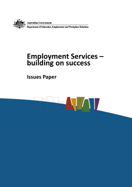 Employment Services * building on success