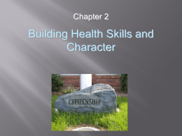 Building Health Skills and Character