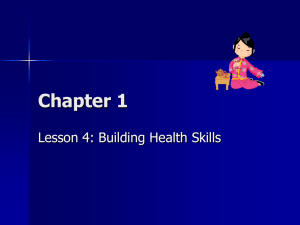 Lesson 4 Building Health Skills