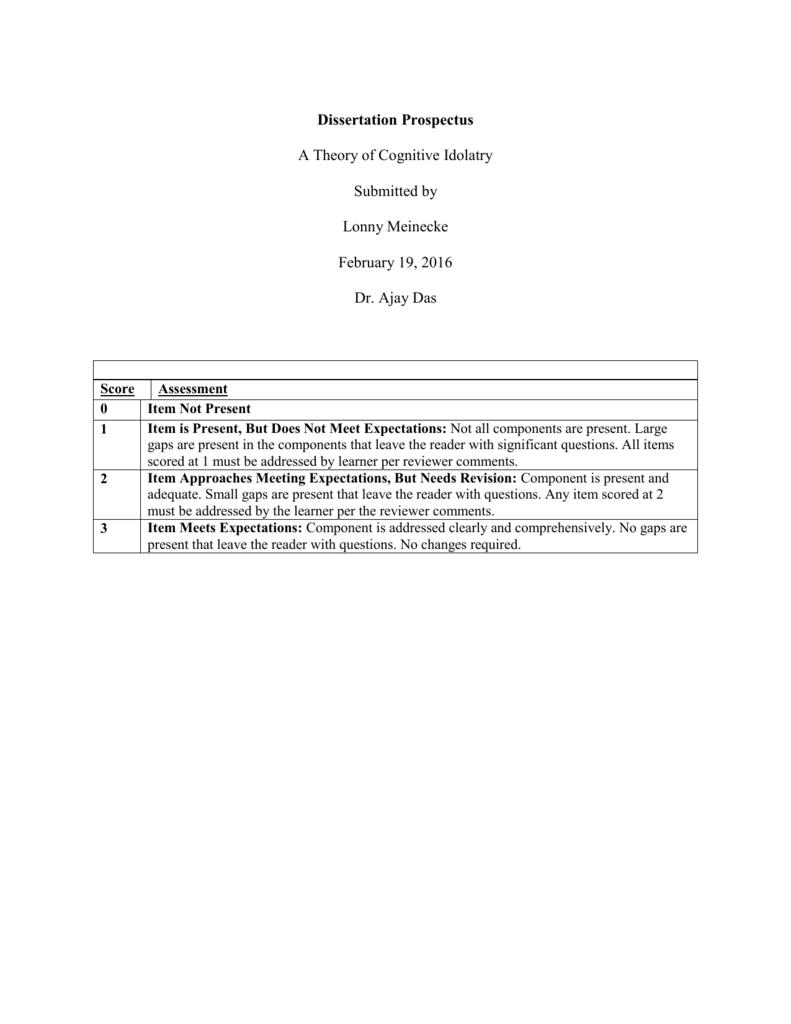 dissertation prospectus template