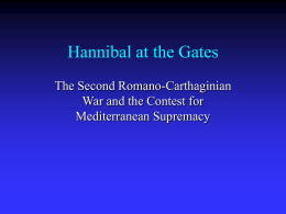 Lecture: Hannibal at the Gates