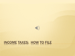 Income Taxes: How To File