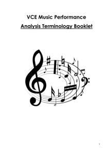 Analysis Terminology Booklet