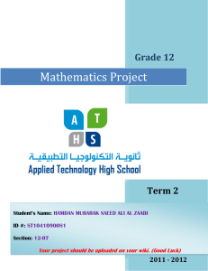 answer of math project