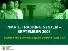 INMATE TRACKING SYSTEM TRANSCEIVER UNIT