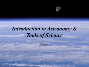 C01: Introduction to Astronomy & Tools of Science
