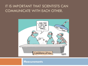 It is important that scientists can communicate with each other.