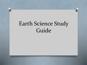 Earth Science Study Guide - Effingham County Schools