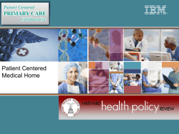 Patient-Centered PRIMARY CARE Collaborative