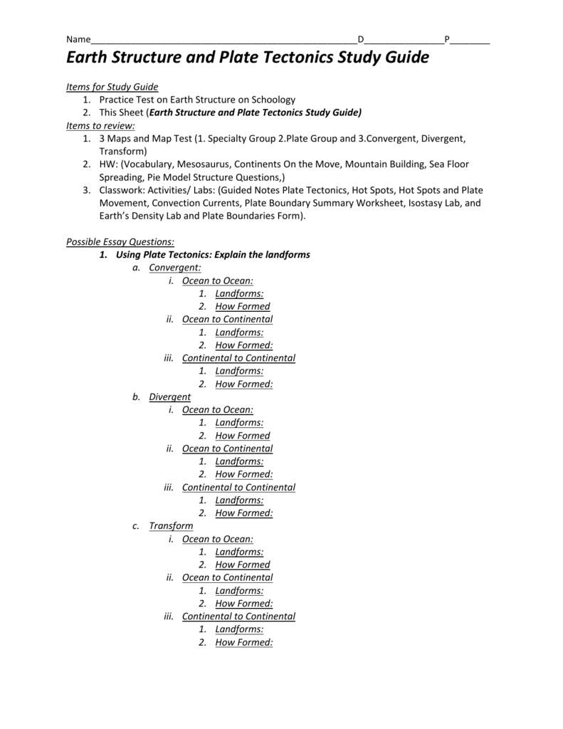 125 study guide – Convection Currents Worksheet