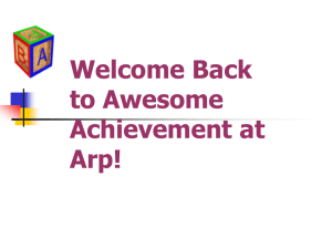 Welcome Back to Awesome Achievment at Arp!