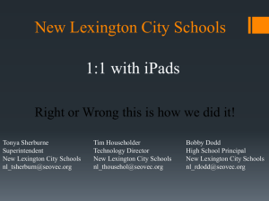 iPad Information Session PowerPoint