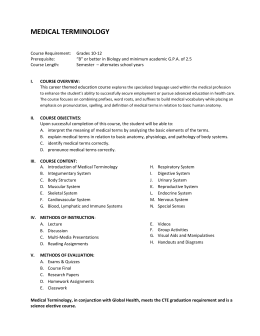 Med. Term. Course Outline