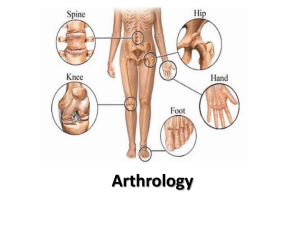 Introduction to Arthrology
