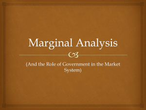 Marginal Analysis - AHS AP Economics