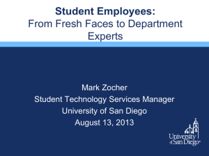 Student Employees- From Fresh Faces to Department