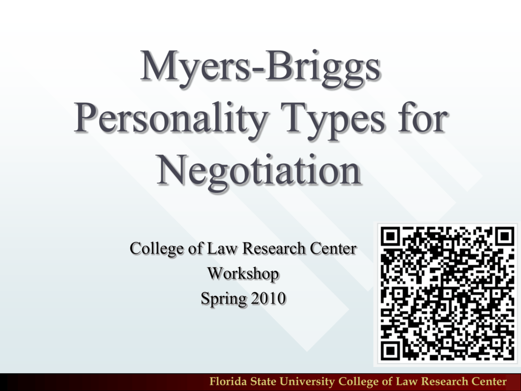 myers briggs research