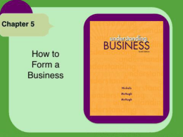 Chapter 5b_How To Form A Business